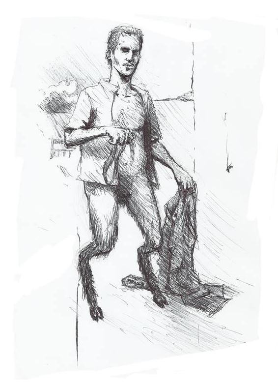 o homem dos pés de bode